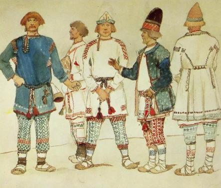 Мотивы русских вышивок